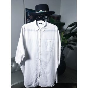 BDG Oversized White Button Down (Urban Outfitters)